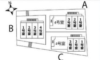 【区画図】ハーミットクラブハウス横浜弘明寺ⅡB棟