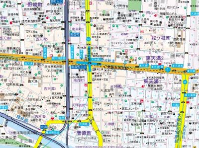 【地図】ラグゼ天神橋