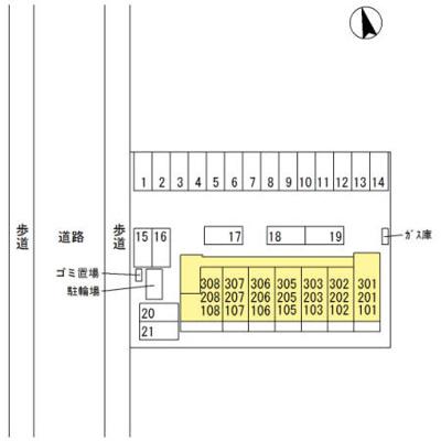 【区画図】西小泉駅 南矢島町 3階建