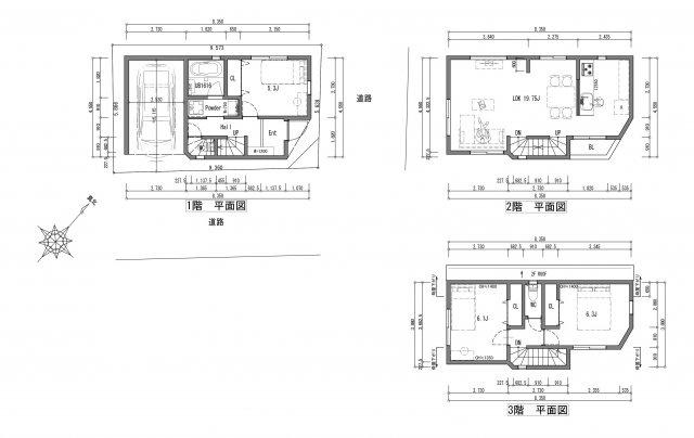 建物参考プラン 建物面積約99.7㎡(30.15坪)建物価格1900万円