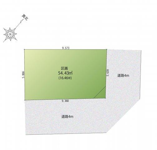 【区画図】目黒区中町1丁目 建築条件付売地