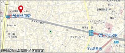 【地図】サテライト下北
