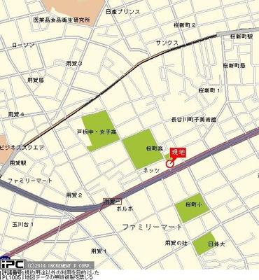 【地図】菱和パレス世田谷桜新町