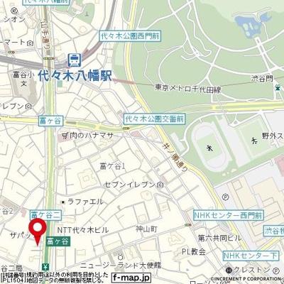 【地図】コンシェリア・デュー代々木公園