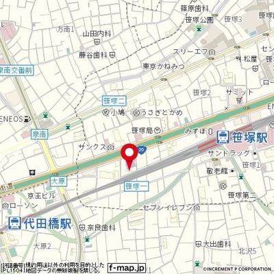 【地図】日神パレステージ笹塚第二
