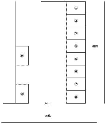 【区画図】泉3丁目駐車場