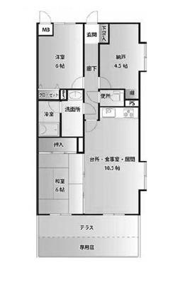 【区画図】ライオンズマンション若葉第2
