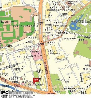 【地図】GALICIA RESIDENCE HIROO