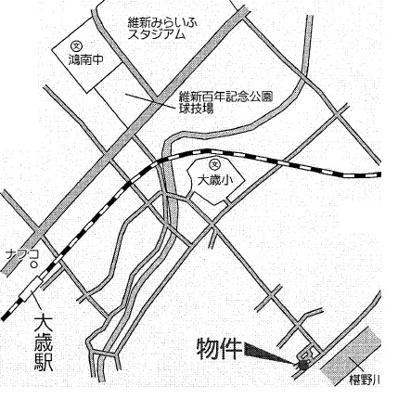 【地図】クレイドルガーデン山口市朝田 第3(4号棟)