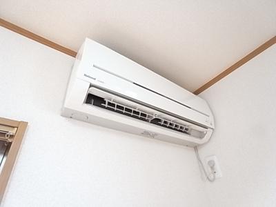 エアコン完備。快適な暮らしをサポートしてくれます。