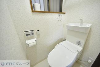清潔感あるトイレ空間です。