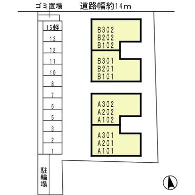【区画図】フラワーメゾン
