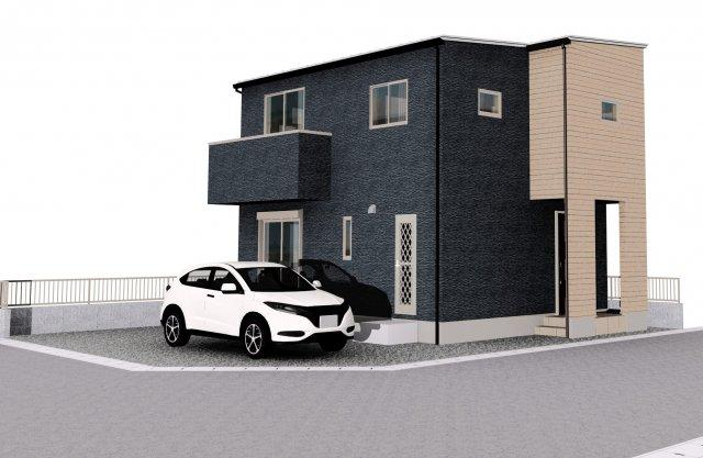 完成時のイメージパースです。2台駐車可能です。
