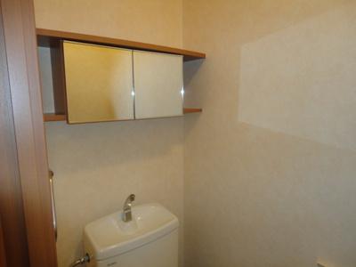 トイレ鏡付収納