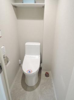 落ち着く空間とデザイン、トイレです。