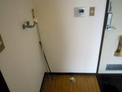 室内洗濯機置き場。