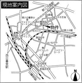 【地図】グラントレゾール西日暮里