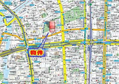 【地図】リーガル靭公園南