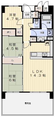 【内装】朝日プラザCITYウエストヒル神戸C棟