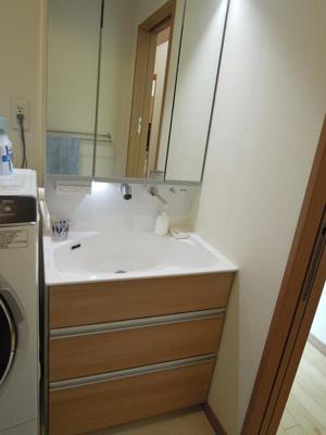 シヤワー付き洗面化粧台