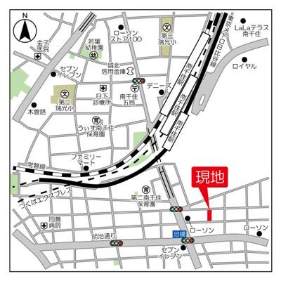 【地図】グランカーサ南千住