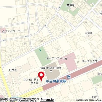 【地図】パークウェル神楽坂弐番館