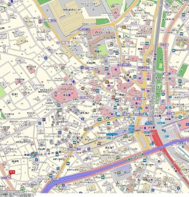 【地図】菱和パレス渋谷西壱番館