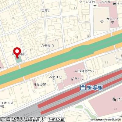 【地図】ガーラ笹塚駅前