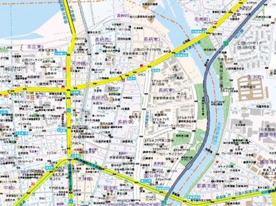 【地図】レオンコンフォート天神橋