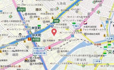 【地図】エスリード弁天町ポートヴィラ