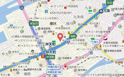 【地図】エスリード弁天町グロリア