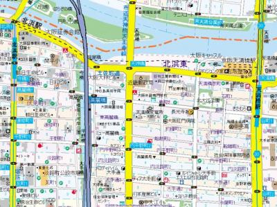 【地図】SEST北浜