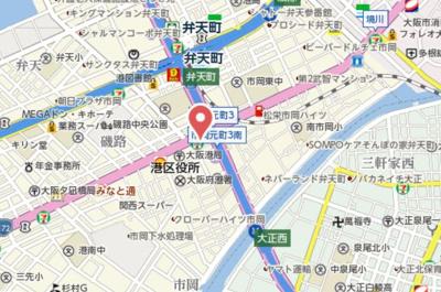 【地図】コスモプレミアムベイ大阪