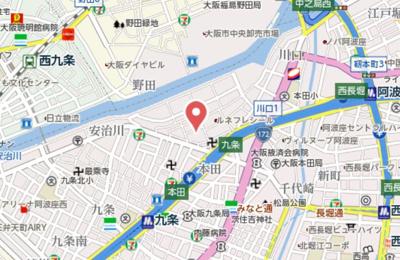 【地図】エステムコート大阪WESTⅡ