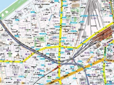 【地図】新梅田セントラルヒルズ