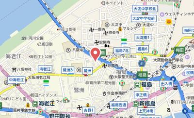 【地図】メインステージ大阪福島
