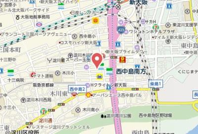 【地図】ウィステリア新大阪