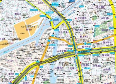 【地図】セオリー大阪リバークロス