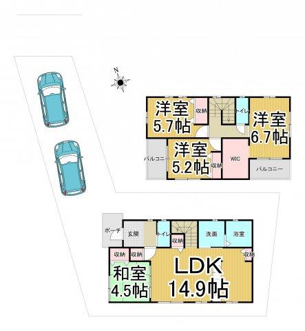デザイン住宅「FIT」早良区賀茂1丁目1期2号棟 4LDK