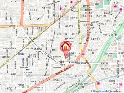 【地図】サン住吉