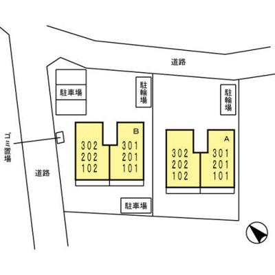【区画図】サンフラワーB