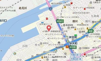 【地図】ジュネーゼグラン弁天町