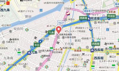 【地図】エステムコート阿波座プレミアム