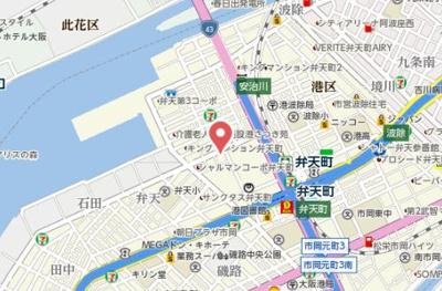 【地図】リーガル弁天町2