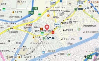 【地図】エクスクルーシブレジデンス西九条
