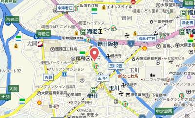 【地図】KHKコート西野田