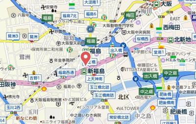 【地図】リーガル福島駅前
