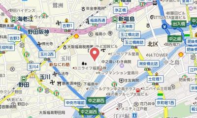 【地図】レジュールアッシュ福島