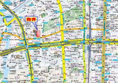 【地図】メゾンキコー靭本町