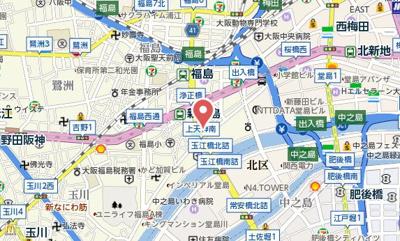 【地図】meetMe梅田西